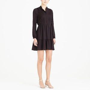 J.Crew Mercantile Ruffle Pintuck Dress In Black 18
